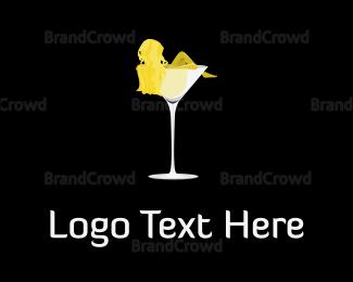 Lady - Woman & Martini logo design