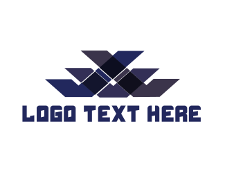 Aviation - Blue Pattern logo design