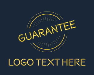 Quality - Yellow Neon Guarantee Seal logo design