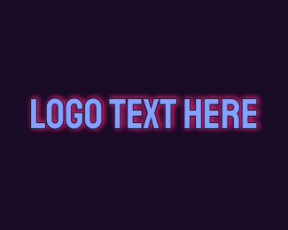 Glow - Glowing Blue Wordmark logo design