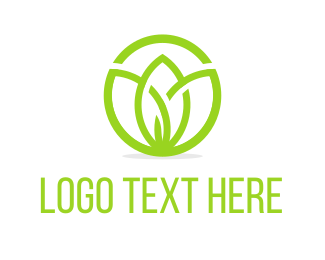 Minimal - Lotus Simple Line logo design