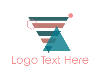 Stripe - Geometric Shapes logo design