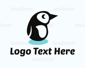 Nappy - Penguin Cartoon logo design