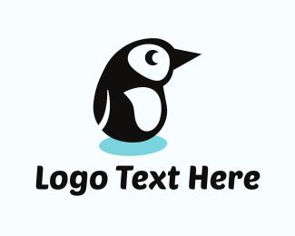 Antarctic - Penguin Cartoon logo design