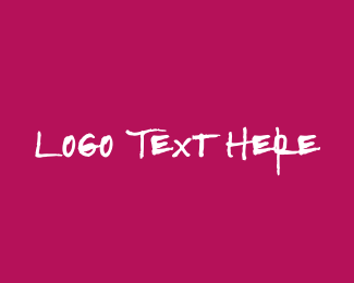 Artsy - Strong & Pink Text logo design