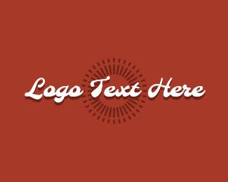 Text Logo - Retro White Wordmark logo design