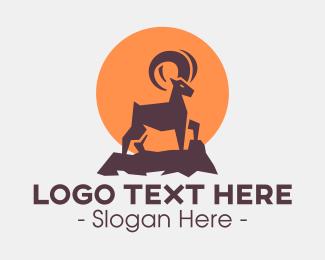 Mountain - Mountain Goat Animal logo design
