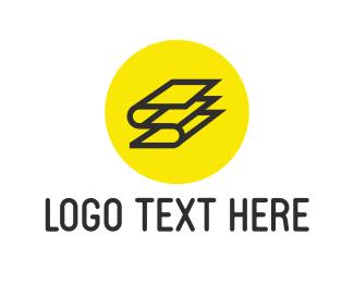 Flip - Letter S Book logo design