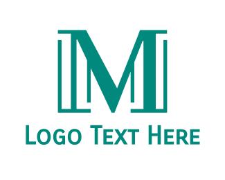 Teal - Modern Teal M logo design