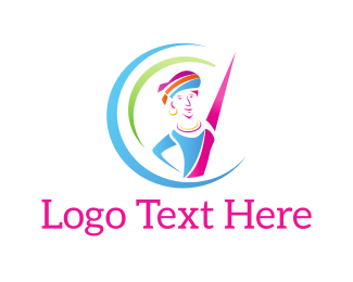 Dancer - Colorful Dancer logo design