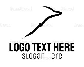 Aquarium - Dolphin Silhouette logo design