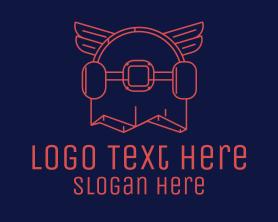 Punk - Skateboard Wings logo design