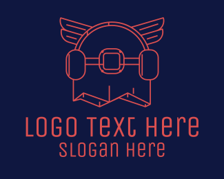 Skate - Skateboard Wings logo design