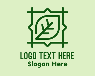 Organic Product - Green Leaf Square  logo design