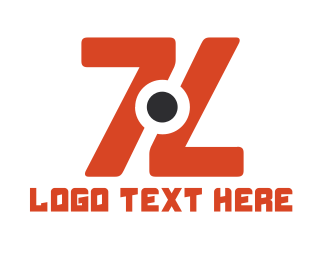 Cctv - Double Orange 7 logo design