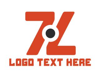Pubg - Double Orange 7 logo design