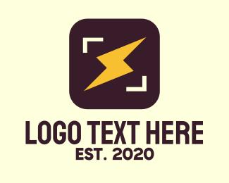 Flash - Flash Bolt Photo App logo design