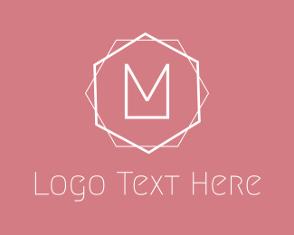 Minimalis M Emblem Logo
