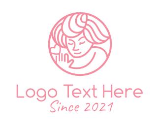 Heart - Pink Women Wellness  logo design
