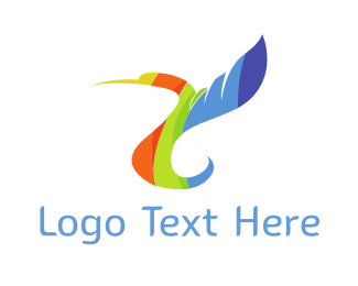 Hummingbird - Rainbow Hummingbird logo design