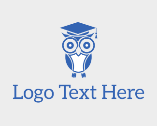 Learn - Wise Educated Owl logo design