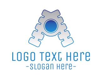 Zip - Zipper Letter A logo design