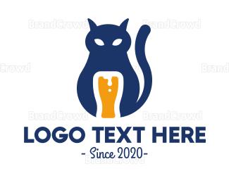 Craft Beer - Cat Beer logo design
