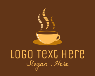 Cappucino - Hot Coffee Cafe logo design