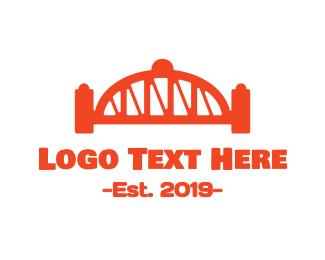 Truss - Red Bridge logo design