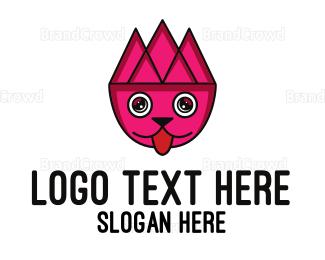 Pet Care - Geometric Pet Outline logo design