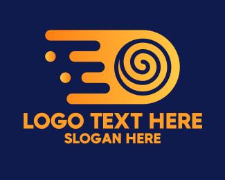 Drip - Abstract Fast Swirl logo design