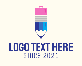 Job - Suitcase Pencil  logo design