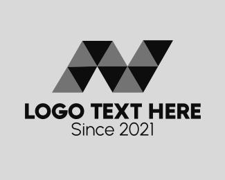 Letter N - Monochrome Letter N logo design