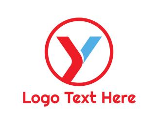 Petroleum - Round Red Blue Y logo design