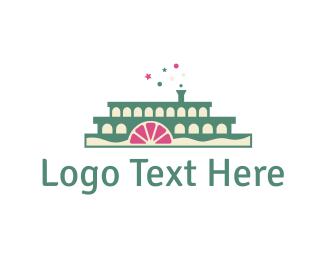 Boat - Cake Boat logo design