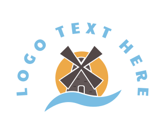 River - Windmill logo design