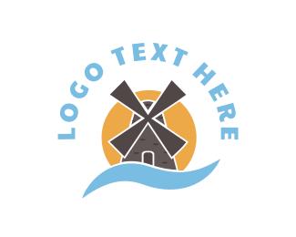 Breeze - Windmill logo design