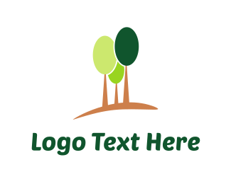 Green And Brown - Green Trees logo design