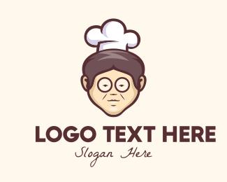 Home Cook - Grandma Chef logo design