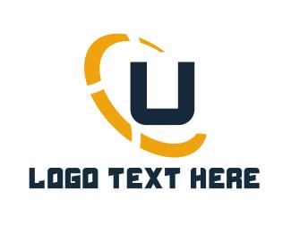 Construction - Letter U Ellipse logo design