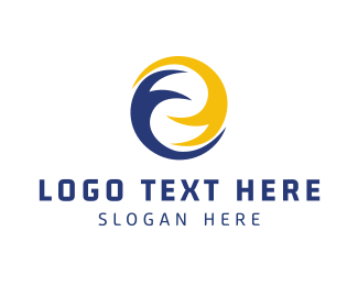 Blue And Yellow - Abstract Circle logo design