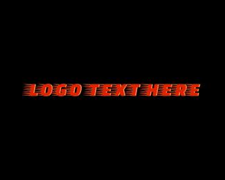 Courier - Orange Fast Courier Service Wordmark logo design