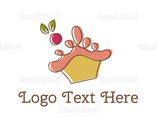 Cupcake - Cherry Cupcake logo design