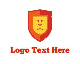 Scotland - Lion Shield logo design