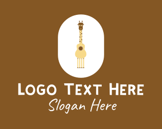 String Instrument - Acoustic Giraffe Guitar logo design