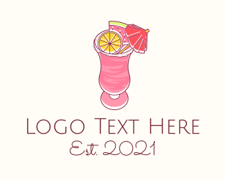 Cool - Slushy Fruit Drink logo design
