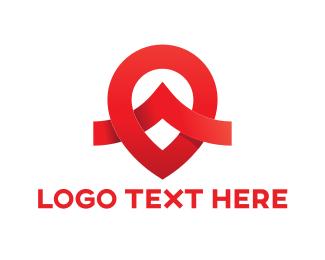 Red Drop - Red Pin logo design