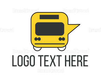 Black And Yellow - Message Bus logo design