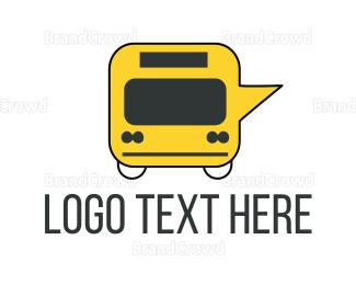 School Bus - Message Bus logo design