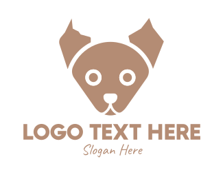 Dog Adoption - Brown Puppy logo design